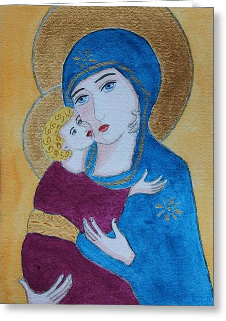 Russian Madonna Greeting Card
