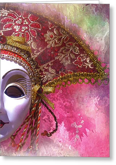russian Mask 1 Greeting Card by Jeff Burgess