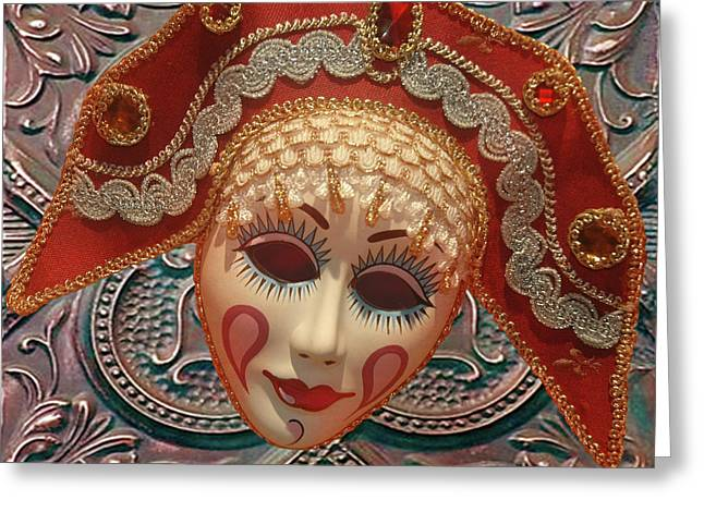 Russian Mask2 Greeting Card by Jeff Burgess