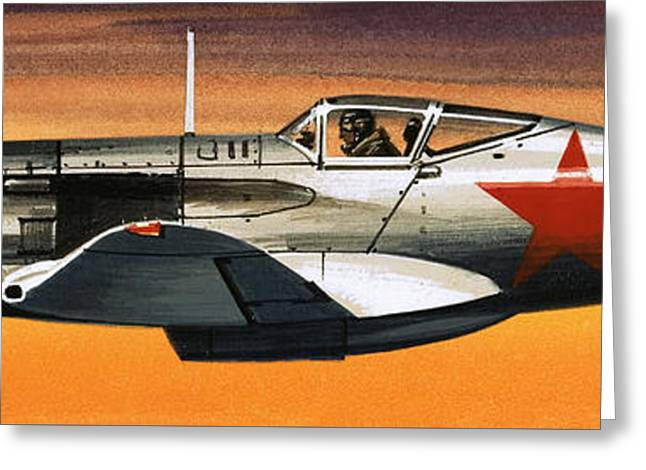 Russian Mikoyan-gurevich Fighter Greeting Card