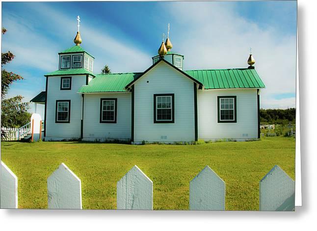 Russian Orthodox Church  Greeting Card by Edie Ann Mendenhall