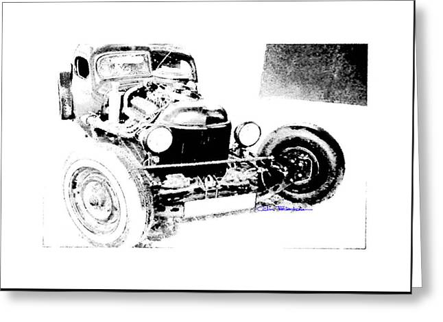 Russian Rat Rod Greeting Card by MOTORVATE STUDIO Colin Tresadern