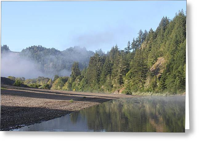Russian River Morning Glow Greeting Card