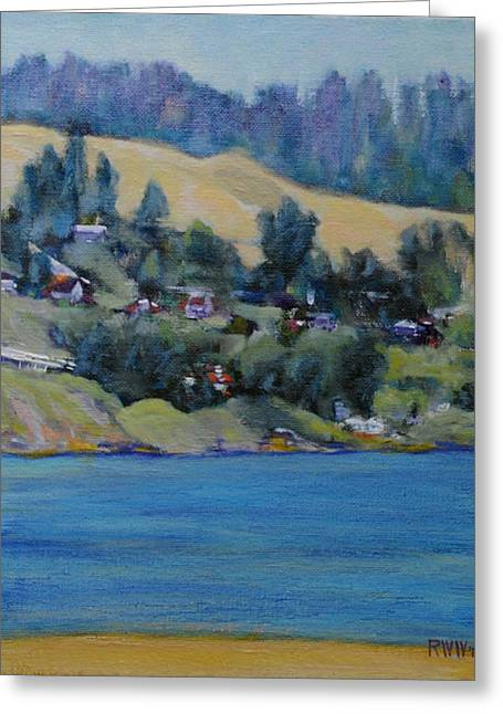 Russian River Greeting Card by Richard  Willson