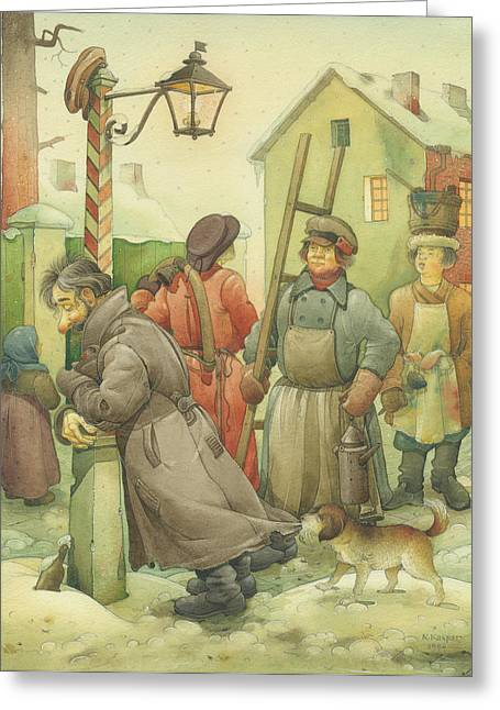Russian Scene 06 Greeting Card by Kestutis Kasparavicius