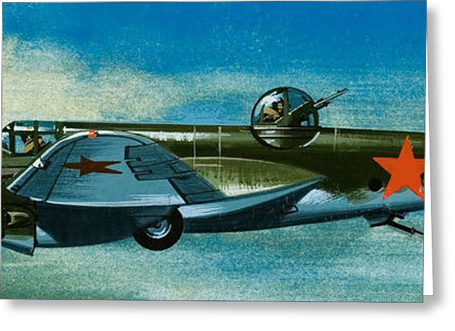 Russian Tupolev Bomber Greeting Card