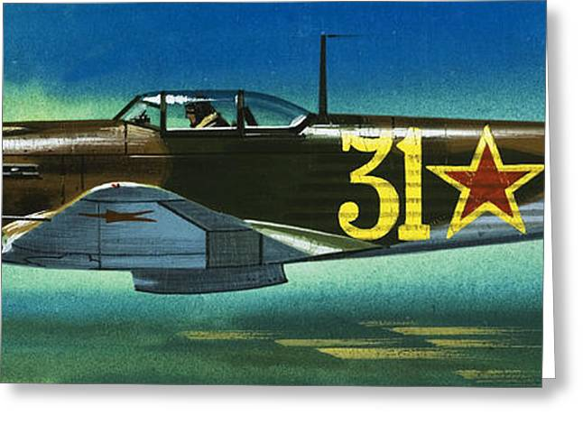Russian Yakolev Fighter Greeting Card