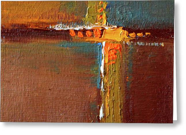 Greeting Card featuring the painting Rust Abstract Painting by Nancy Merkle