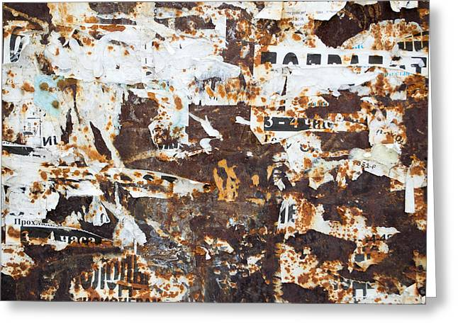 Rust And Torn Paper Posters Greeting Card by John Williams