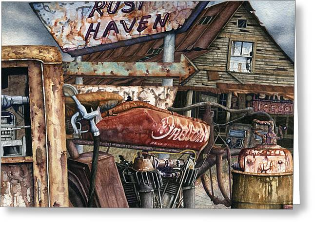 Rust Haven Greeting Card