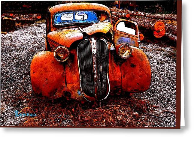 Rust In Peace Greeting Card by Sadie Reneau