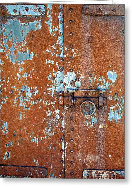 Rust N Blue Greeting Card