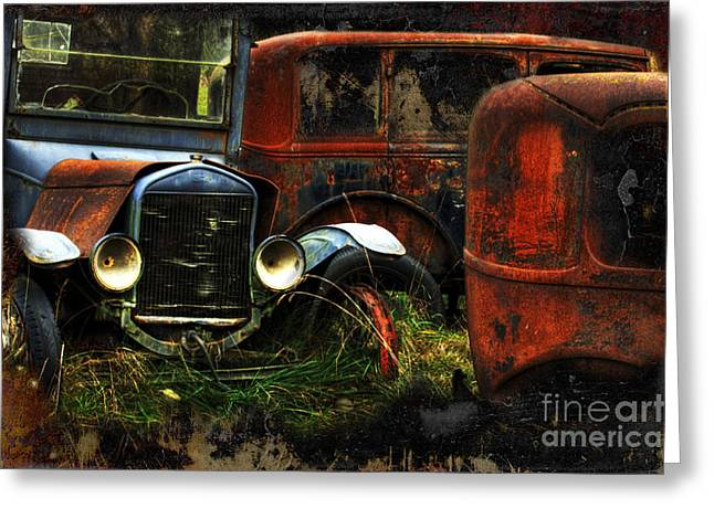 Rust Never Sleeps Greeting Card by Bob Christopher
