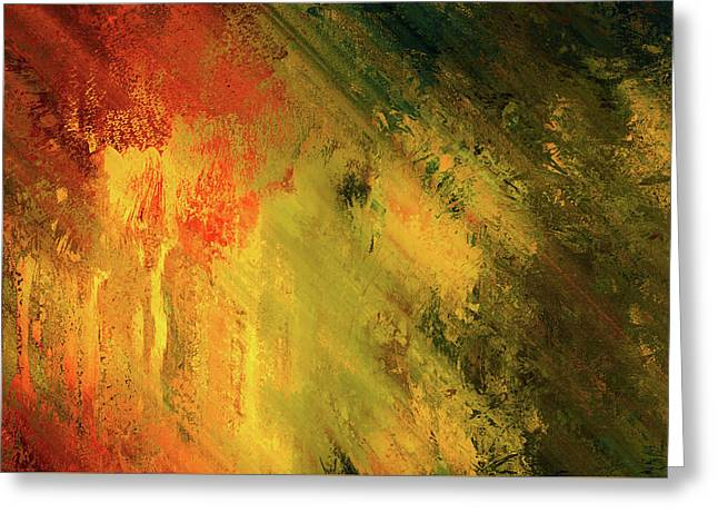 Rust Of Life Abstract Wall Art Greeting Card by Georgiana Romanovna