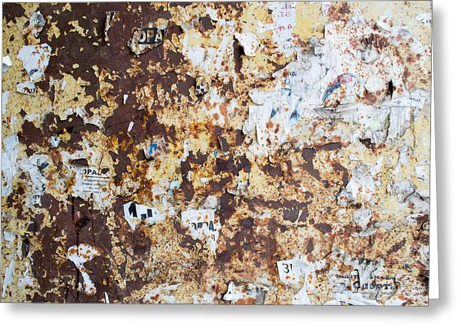 Rust Paper Texture Greeting Card by John Williams