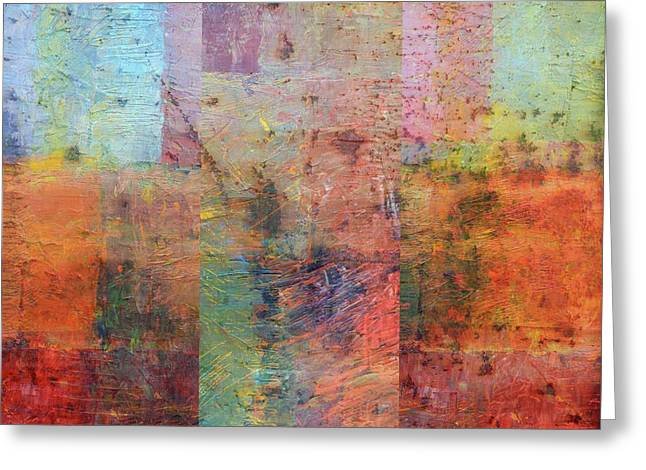 Greeting Card featuring the painting Rust Study 1.0 by Michelle Calkins