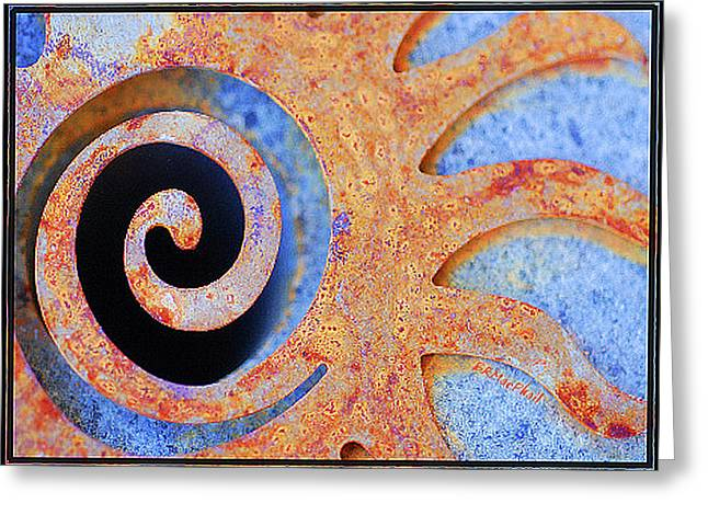 Greeting Card featuring the photograph Rusted by Barbara MacPhail