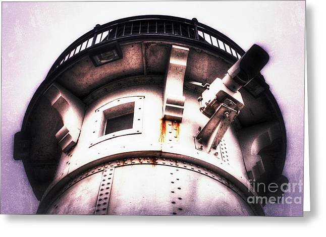 Greeting Card featuring the photograph Rusted Beacon by Mark David Zahn