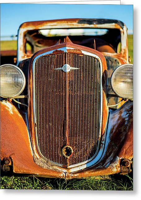 Rusted Chevrolet Greeting Card