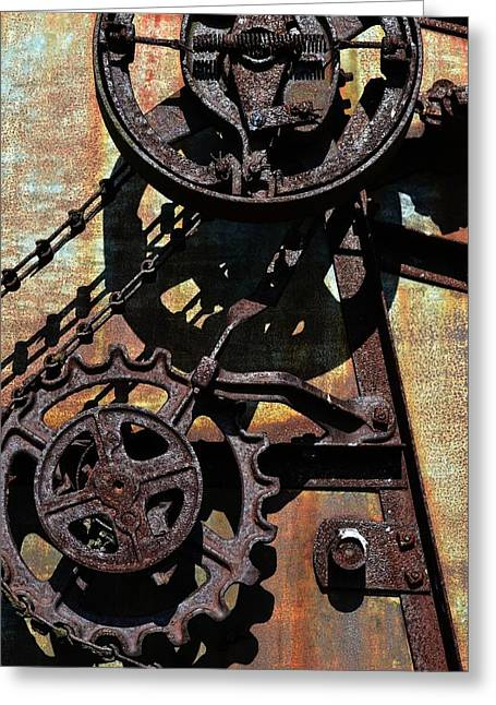 Rusted Gears 2.0 Greeting Card by Michelle Calkins