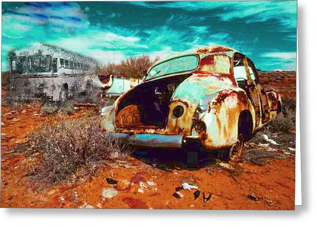Rusted Greeting Card by Leah Devora