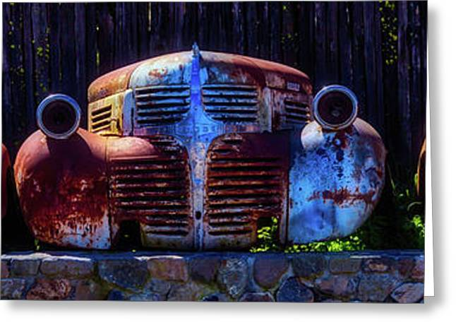 Rusted Out Old Cars Greeting Card by Garry Gay