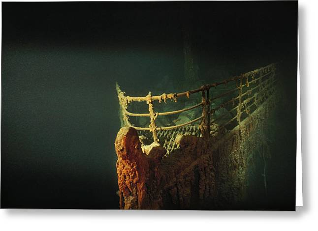 Rusted Prow Of The R.m.s. Titanic Ocean Greeting Card by Emory Kristof