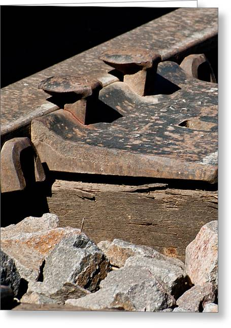 Rusted Rail Greeting Card by Colleen Coccia