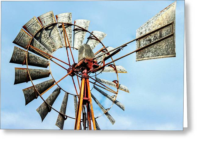 S And L Windmill Greeting Card