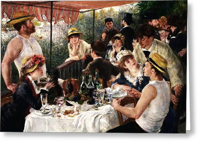 Rustic 19 Renoir Greeting Card by David Bridburg
