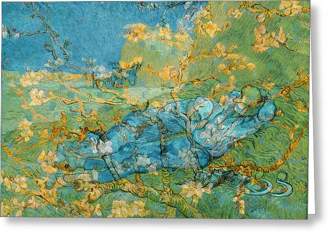Rustic 6 Van Gogh Greeting Card