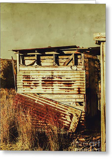 Rustic Abandonment Greeting Card
