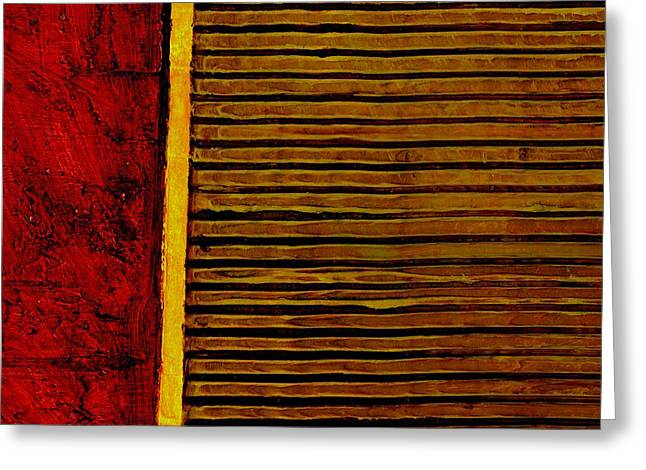 Rustic Abstract One Greeting Card