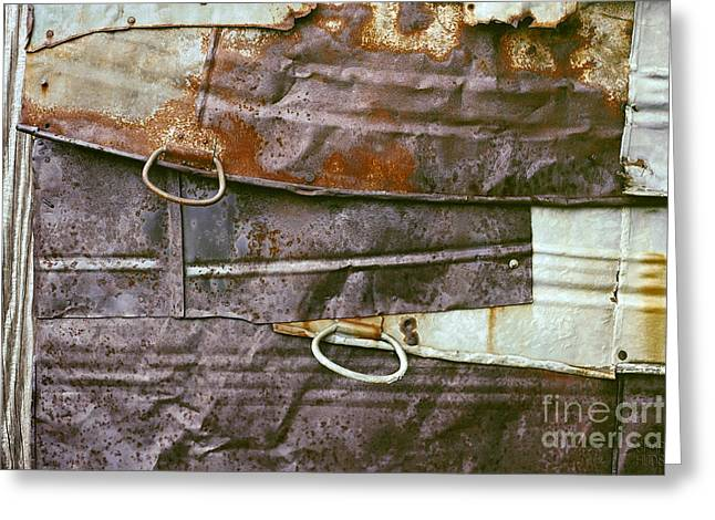 rustic abstract photograph - Sheet Metal Wall Greeting Card