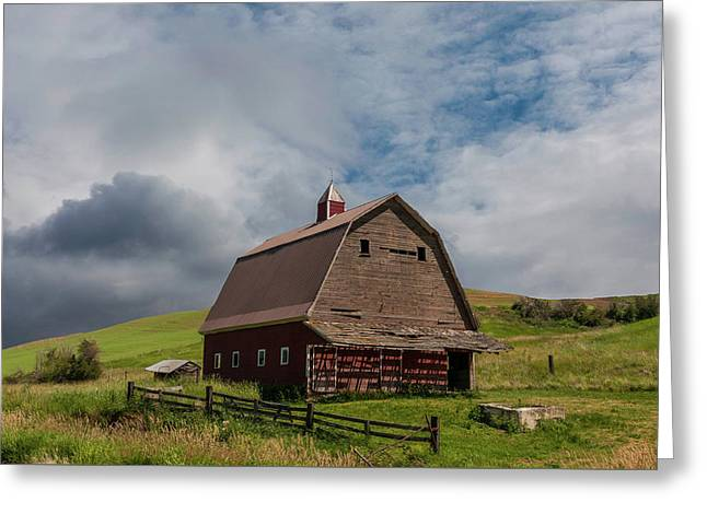 Rustic Barn Palouse Washington Greeting Card by James Hammond