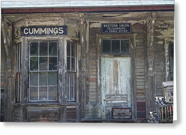Rustic Building Greeting Card by Sue Mayor