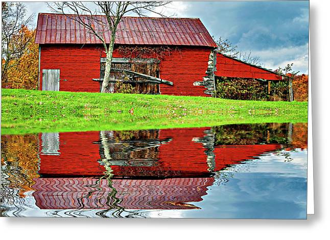 Rustic Charm 2 - Reflection Greeting Card