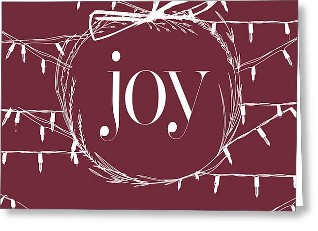 Rustic Christmas Joy Wreath Greeting Card