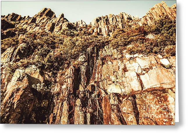 Rustic Cliff Spring Greeting Card
