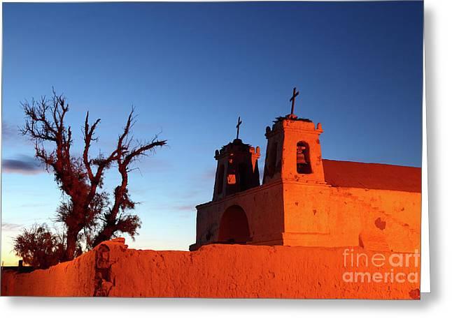 Rustic Colonial Church At Chiu Chiu Chile Greeting Card