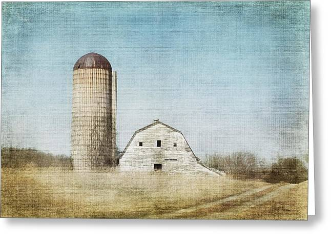Rustic Dairy Barn Greeting Card by Melissa Bittinger