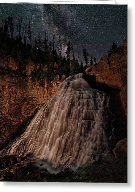 Rustic Falls Forever Greeting Card by Mike Berenson