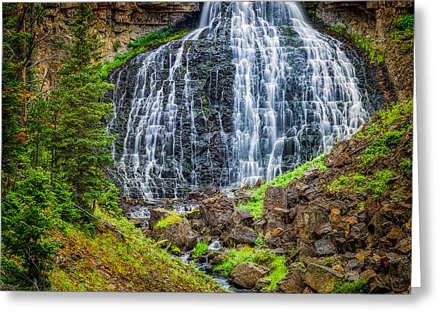 Greeting Card featuring the photograph Rustic Falls  by Rikk Flohr