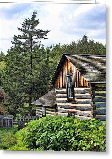 Rustic Farmhouse At Old World Wisconsin Greeting Card