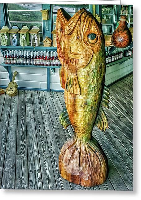 Rustic Fish Greeting Card