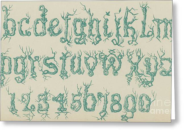 Rustic Font Greeting Card by English School