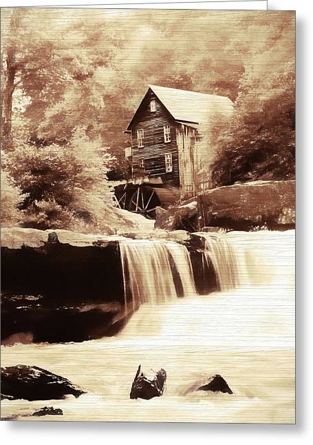 Rustic Glade Creek Grist Mill Greeting Card