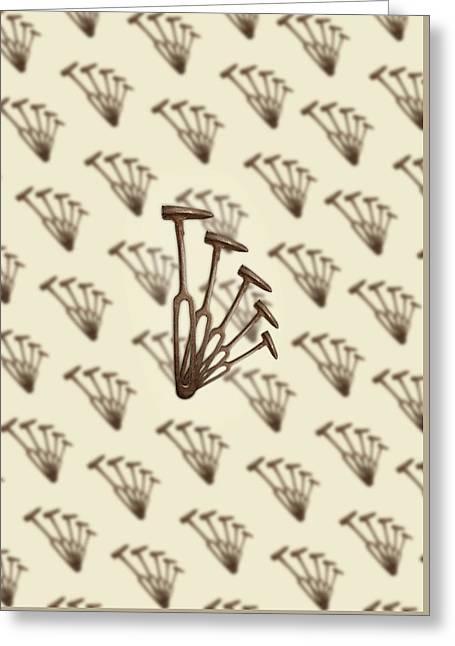 Rustic Hammer Pattern Greeting Card by YoPedro