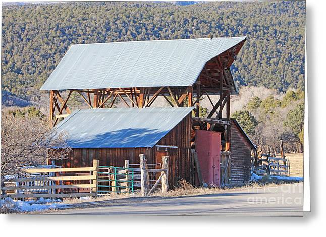 Rustic Hay Barn Cedaredge Colorado Greeting Card