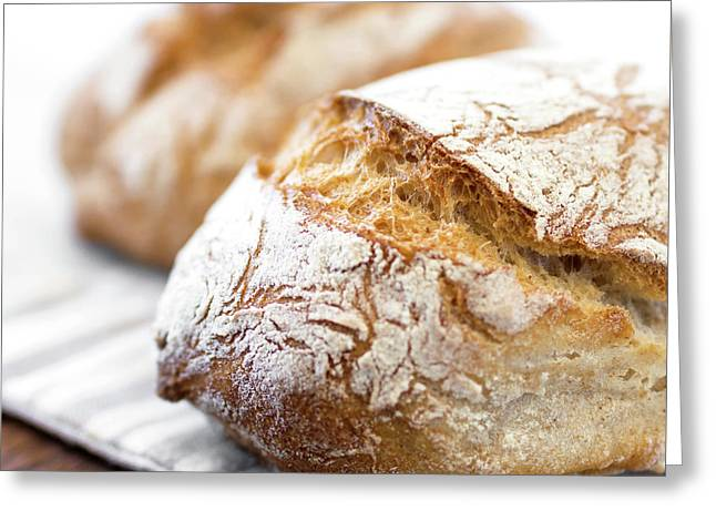 Rustic Loaf Of Bread Greeting Card by Germano Poli